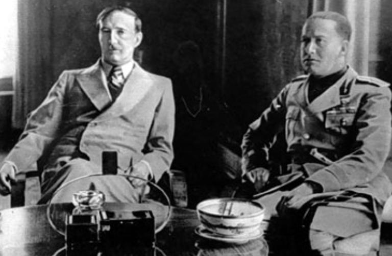 Re Zog con il Ministro degli esteri italiano, Galeazzo Ciano