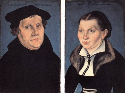 ritratto di lutero e sua moglie